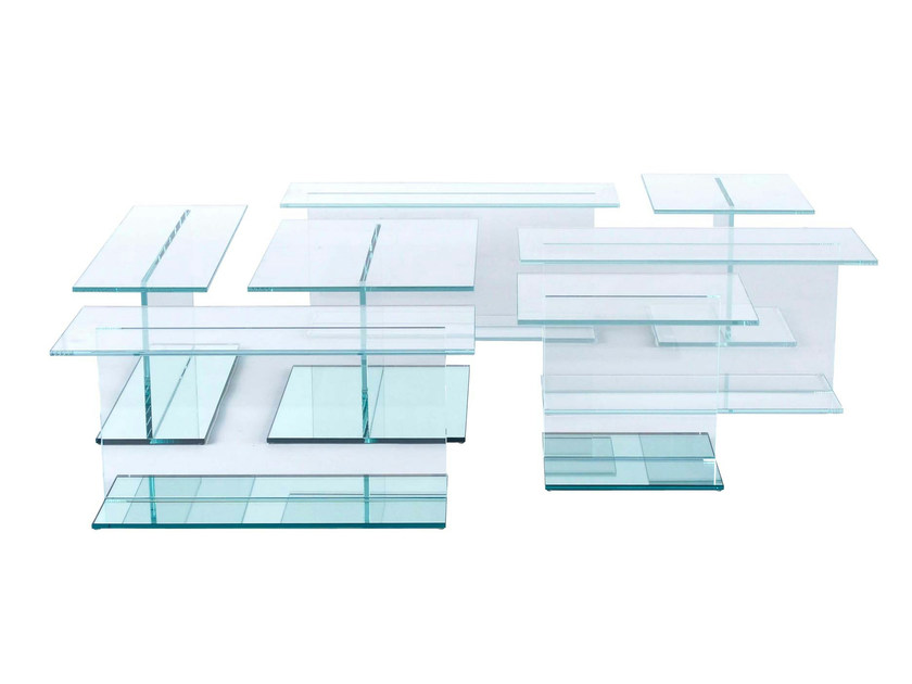 Table basse en verre design tea for two collection les - Table basse en verre roche bobois ...
