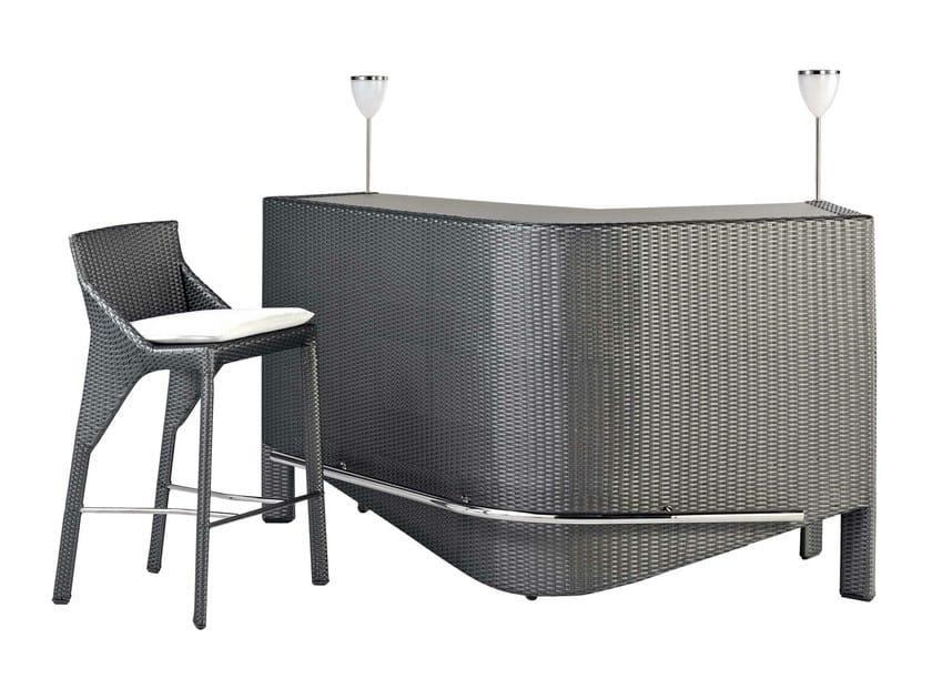 Bel air bar counter by roche bobois design sacha lakic for Bar roche bobois
