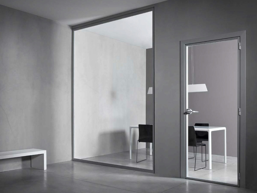 Hinged tempered glass door VETRA UNO by CONNECTICUT
