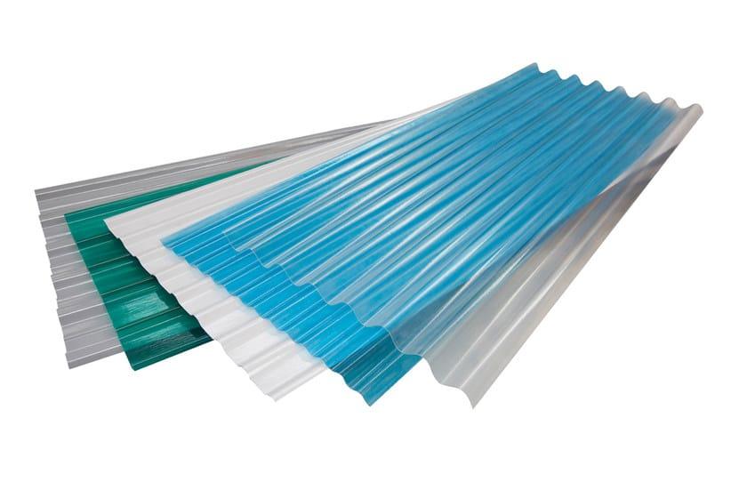 Ondulato vetroresina trasparente