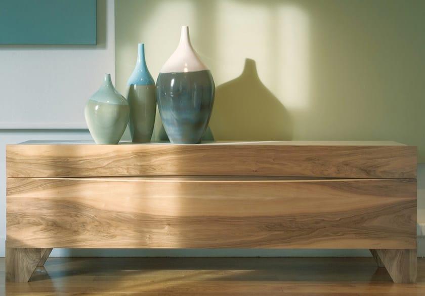 commode en noyer horizon collection les contemporains by roche bobois design luigi gorgoni. Black Bedroom Furniture Sets. Home Design Ideas