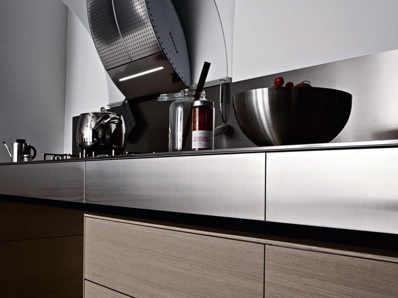 Cucina componibile in acciaio inox artematica inox valcucine - Cucine d acciaio ...