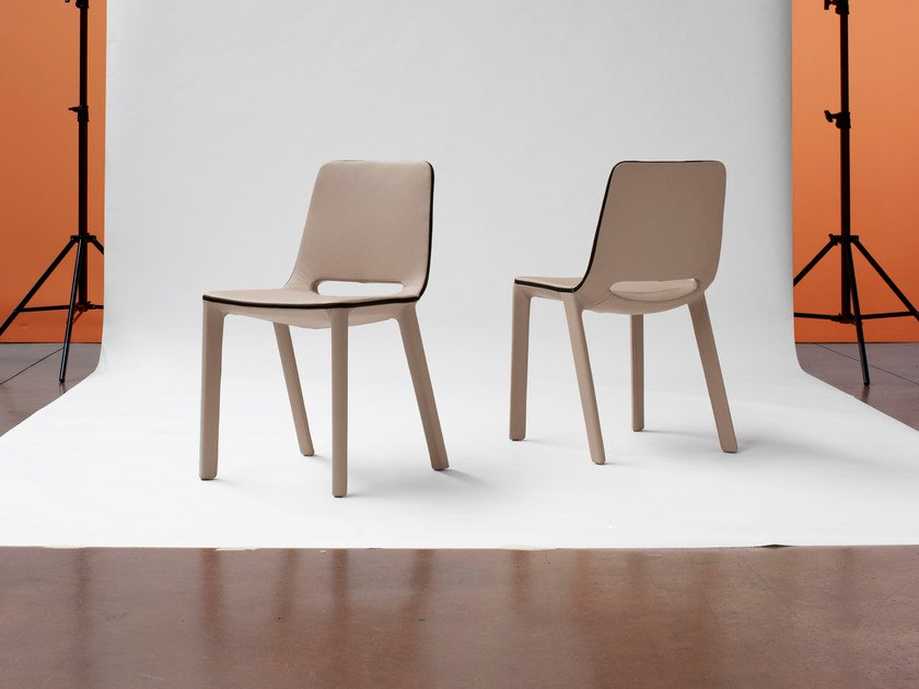 Upholstered metal chair KAMAR - Bonaldo