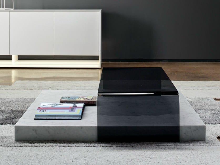 Low rectangular coffee table RIBBON by Bonaldo