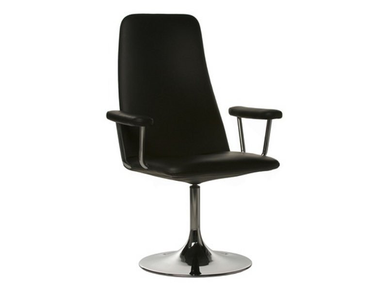 High-back leather executive chair with armrests BELLA | Executive chair by Johanson Design