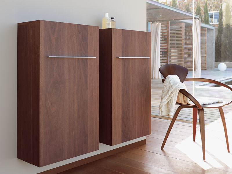 Tall suspended bathroom cabinet FOGO | Tall bathroom cabinet - DURAVIT