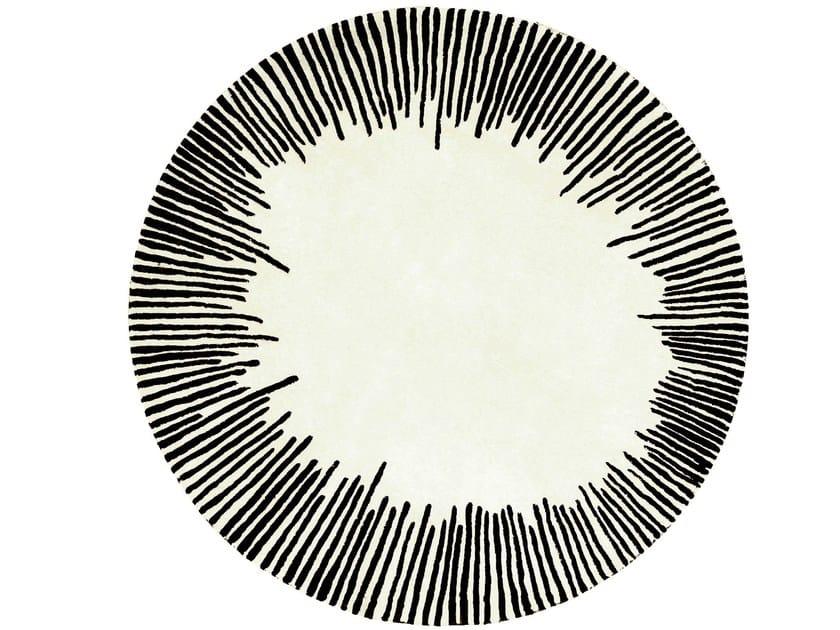 Tapis ronde en laine equinoxe collection les contemporains by roche bobois - Tapis contemporain roche bobois ...