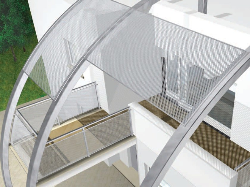 Parapetto per finestra e balcone in rete stirata parapetto - Parapetto finestra ...