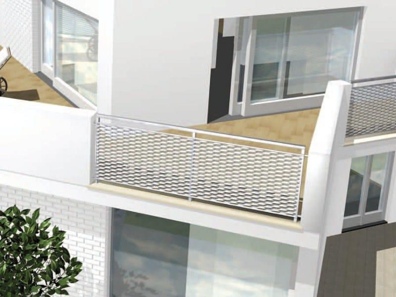 Parapetto per finestra e balcone in rete stirata parapetto for Lamiere stirate fils
