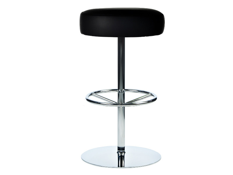 Swivel leather barstool with footrest CLASSIC | Stool with footrest - Johanson Design