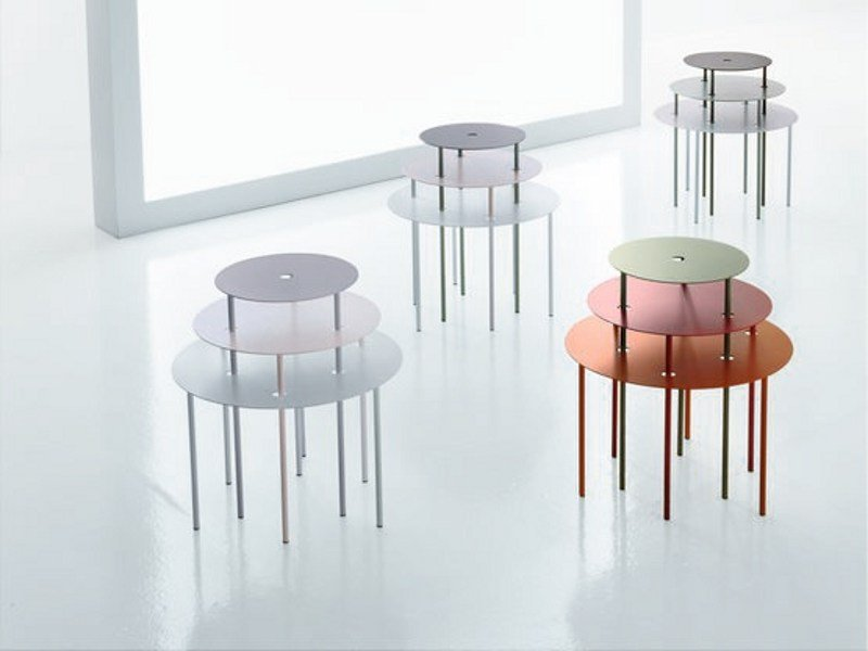 Table gigogne qui pro quo by bonaldo design gino carollo - Table gigogne design ...