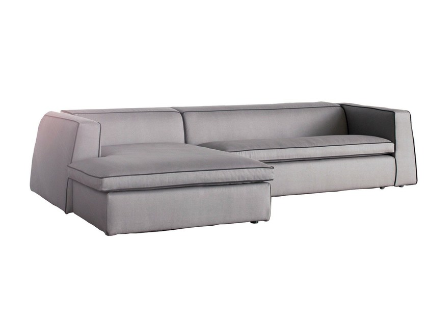 Sectional sofa with chaise longue GOOD MOOD | Sofa with chaise longue by Bonaldo
