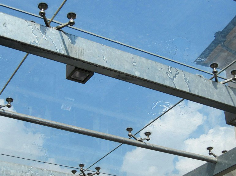Point-fixed glass facade Point-fixed glass facade by WOLFSGRUBER