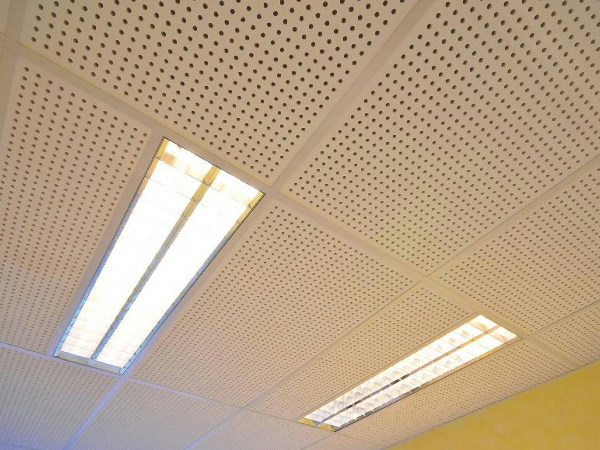 Acoustic plasterboard ceiling tiles TILE 6/18 R - FIBRAN