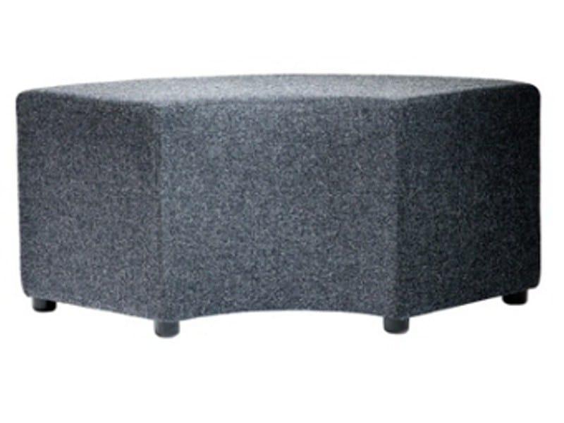 Upholstered fabric pouf BOND - Johanson Design