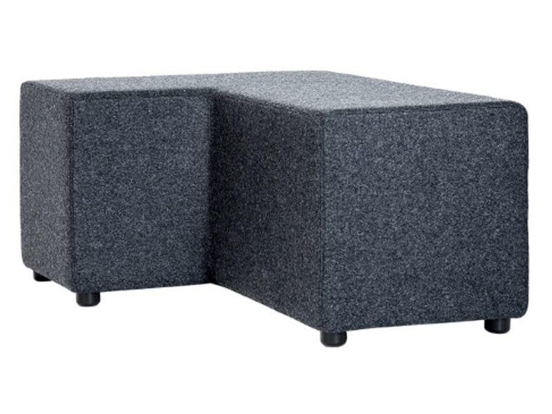Upholstered fabric pouf BEN - Johanson Design