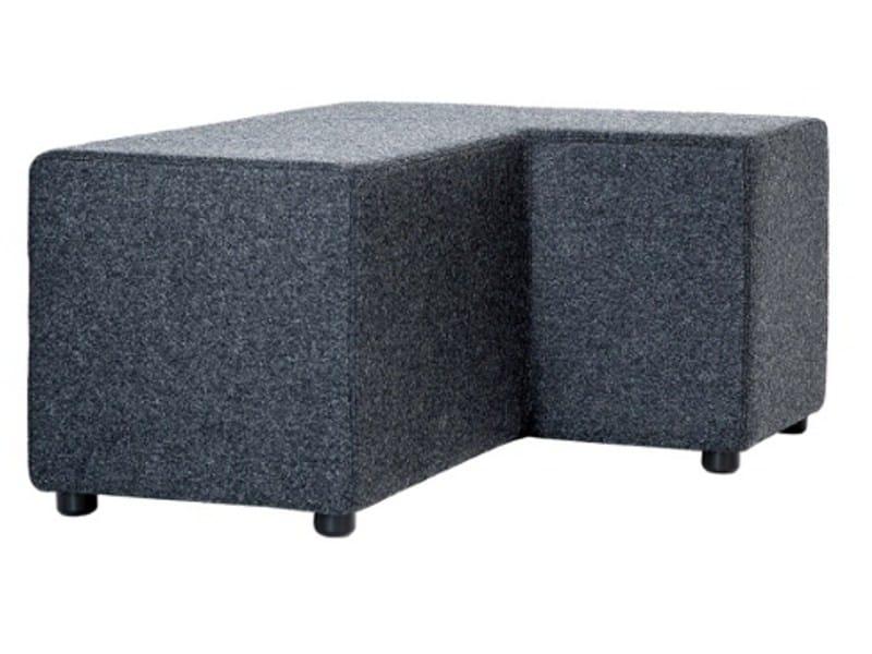 Upholstered fabric pouf BENNY - Johanson Design