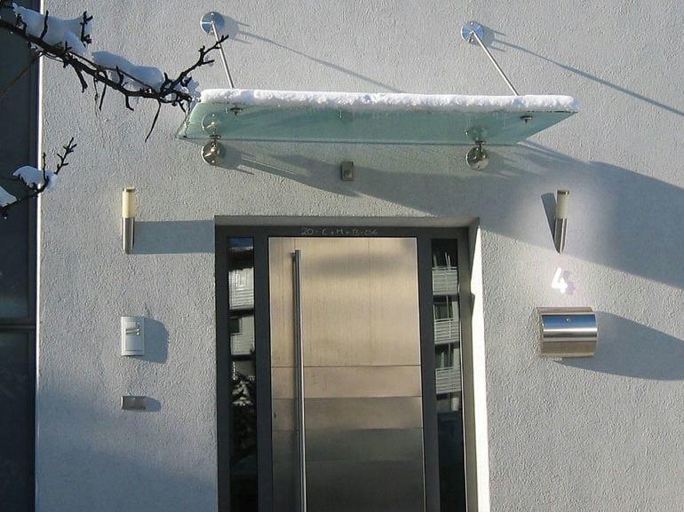 Glass door canopy BASIC   Door canopy - WOLFSGRUBER