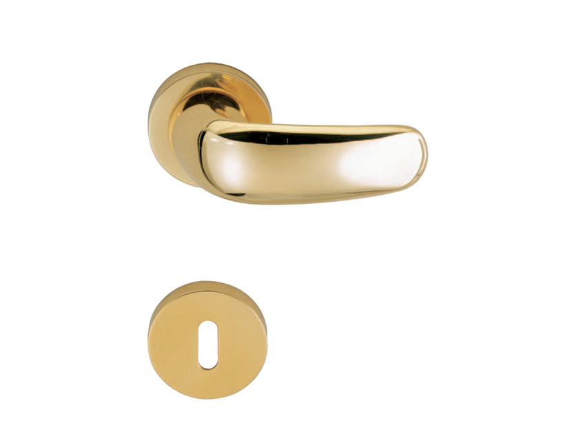 Door handle on rose with lock COMPATTA - RDS