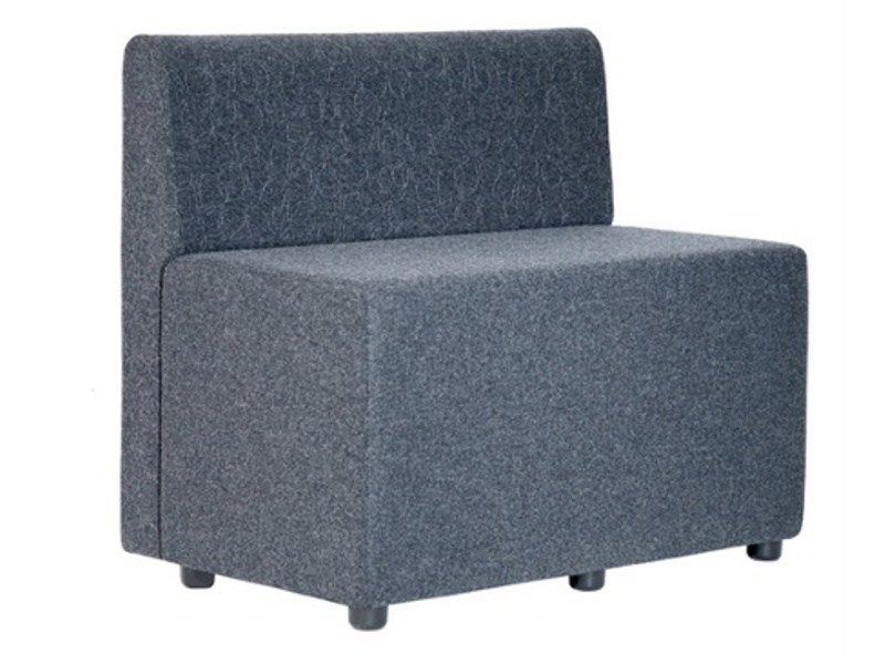 Upholstered modular fabric armchair BULL W BACK - Johanson Design