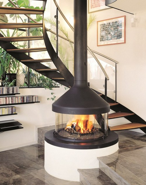 caminetto centrale con vetro panoramico meijifocus focus. Black Bedroom Furniture Sets. Home Design Ideas