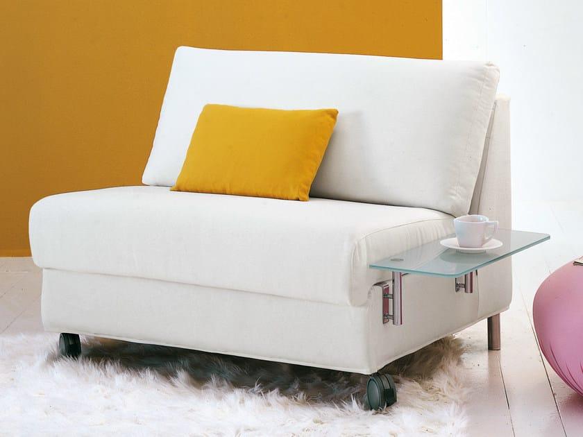 Poltrona letto imbottita sfoderabile con ruote dado collezione dado by bonaldo design peter ross - Poltrona letto design ...