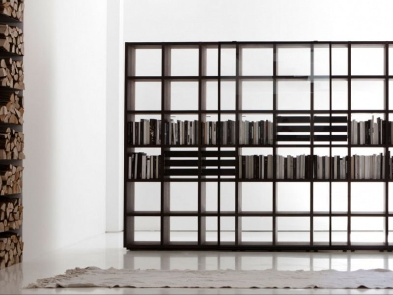 Open Bookcase in Eucalypt SYSTEM 2012 by Porro