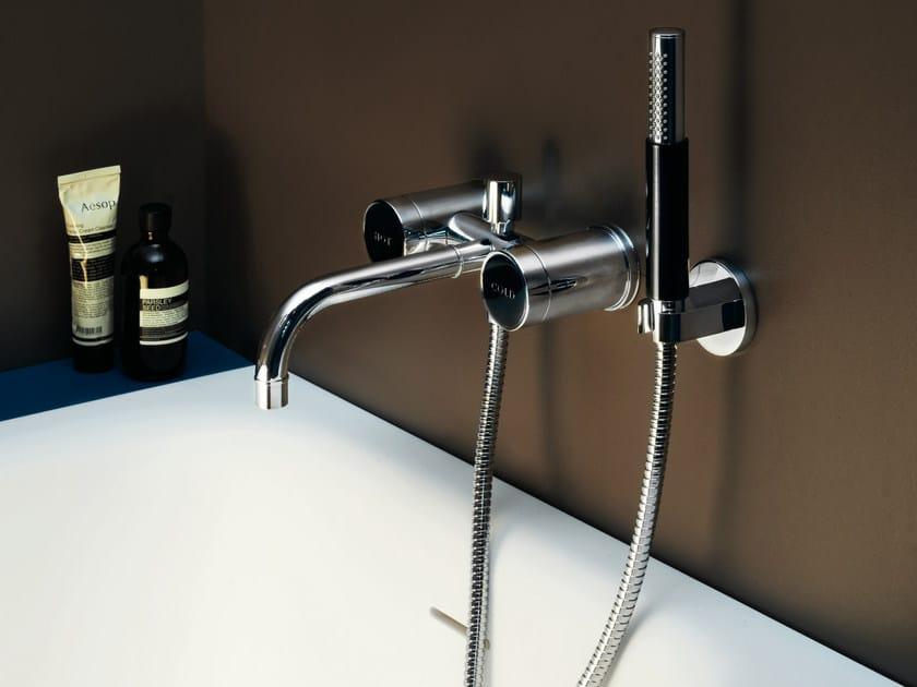 3 hole bathtub tap with hand shower SAVOIR | Bathtub tap - ZUCCHETTI