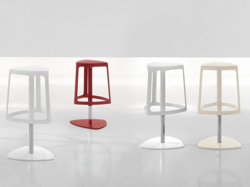 Height-adjustable swivel stool CLIP - Bonaldo