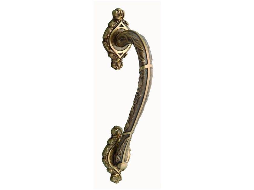 Brass door handle on rose CLASICA | Door handle on rose - Bronces Mestre