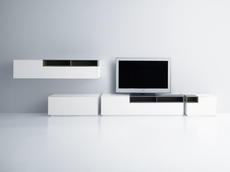 Sectional TV wall system INMOTION | Storage wall by MDF Italia