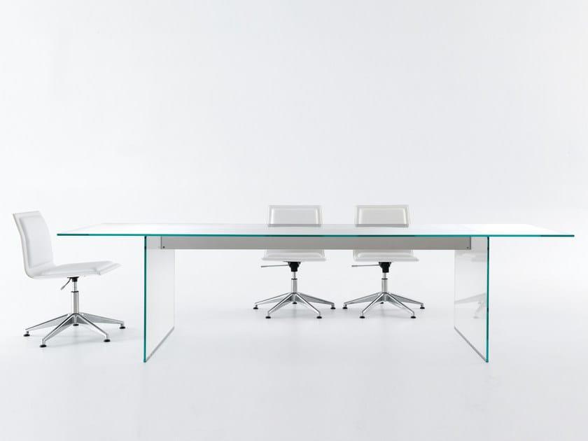 Tavolo in cristallo air table gallotti radice - Tavoli gallotti e radice ...