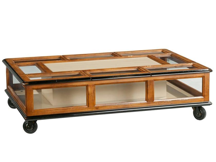 Architecte tavolino rettangolare by roche bobois for Tavolino con vetrina