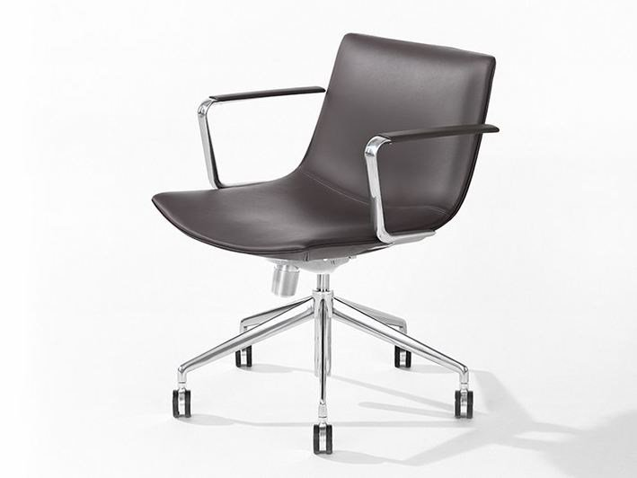 Conference 5 ways aluminum with armrests CATIFA 60 | Task chair - Arper