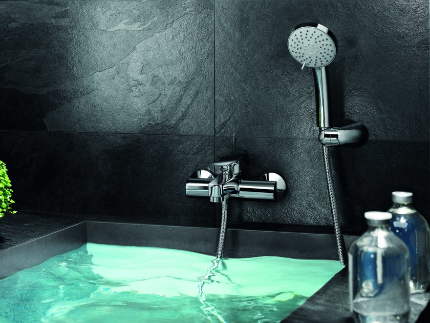 Bathtub mixer with hand shower H2OMIX3000 | Bathtub mixer - Gattoni Rubinetteria
