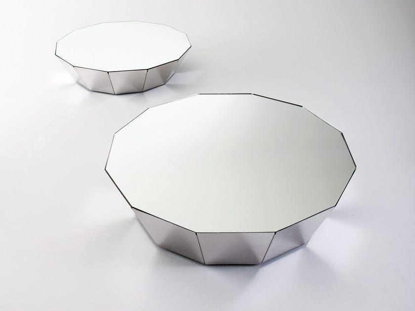 Tavolino basso in cristallo BASALTO 12 by Gallotti&Radice