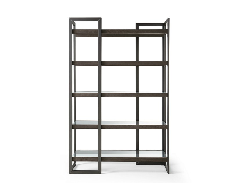 Stainless steel bookcase DIPSY - Gallotti&Radice