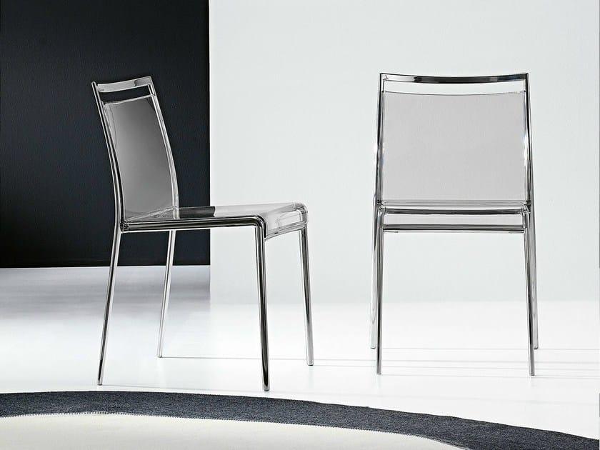 Stackable polycarbonate chair YOU | Polycarbonate chair - Bonaldo