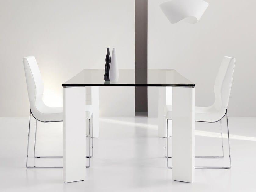 Rectangular crystal table LAUD   Rectangular table - Bonaldo