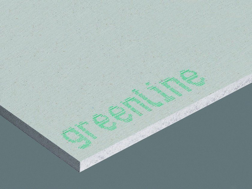 Plasterboard partition GREENLINE | Gypsum fiber Natural insulating felt and panel for sustainable building - Fermacell