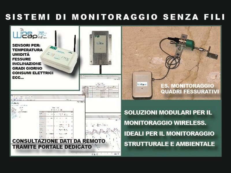Datalogger Wireless structural health monitoring and environ WINECAP - PASI