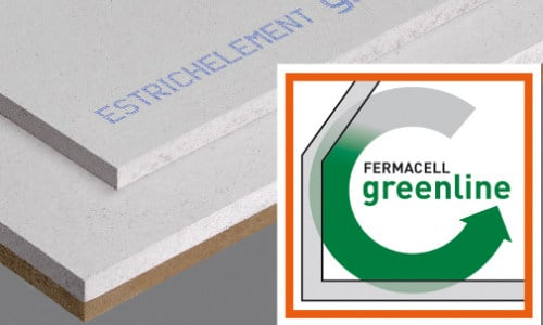 Screed and base layer for flooring GREENLINE   Screed and base layer for flooring - Fermacell