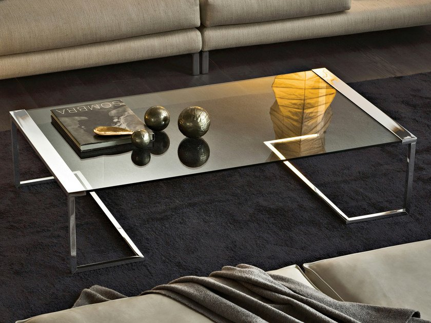 Low crystal coffee table SIR T32 | Rectangular coffee table by Gallotti&Radice