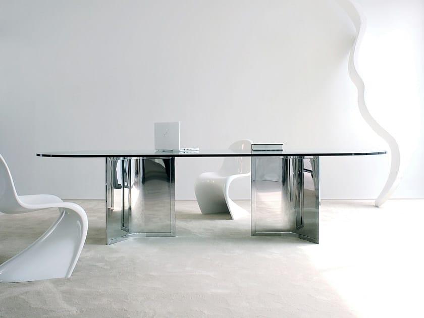 Oval crystal table RAJ - Gallotti&Radice