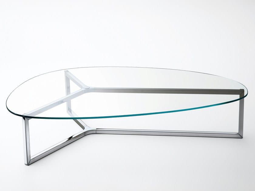 Low oval coffee table RAJ 3 by Gallotti&Radice