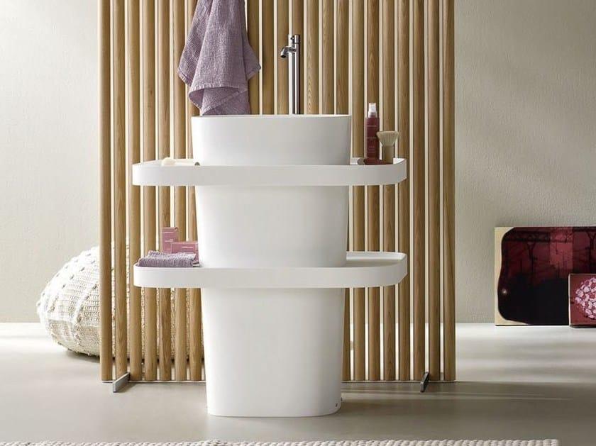 Freestanding oval Corian® washbasin FONTE | Freestanding washbasin - Rexa Design