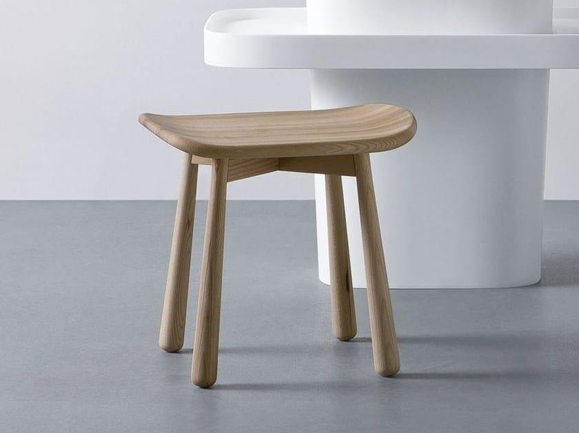 Wooden bathroom stool FONTE | Elm bathroom stool - Rexa Design