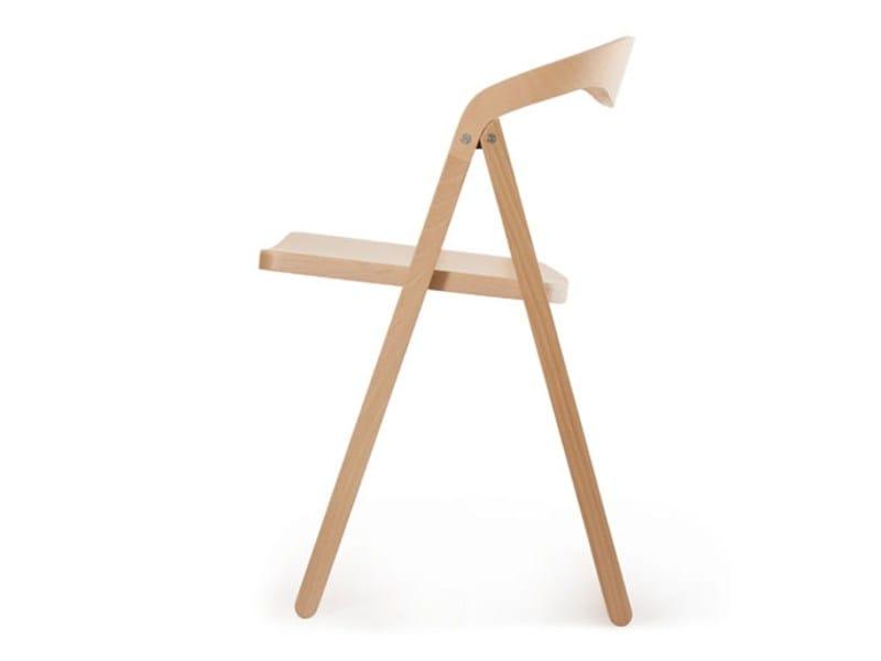 Folding beech chair PATAN by Zilio A&C