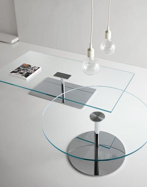 Tavolo rotondo in vetro temperato FARNIENTE ALTO | Tavolo rotondo ...