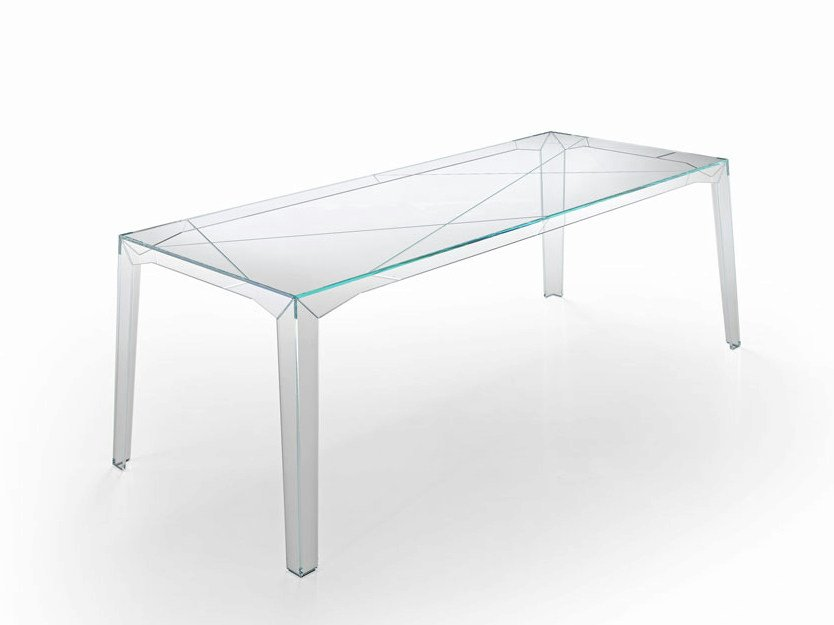 Rectangular glass table FRAGMENTS - T.D. Tonelli Design